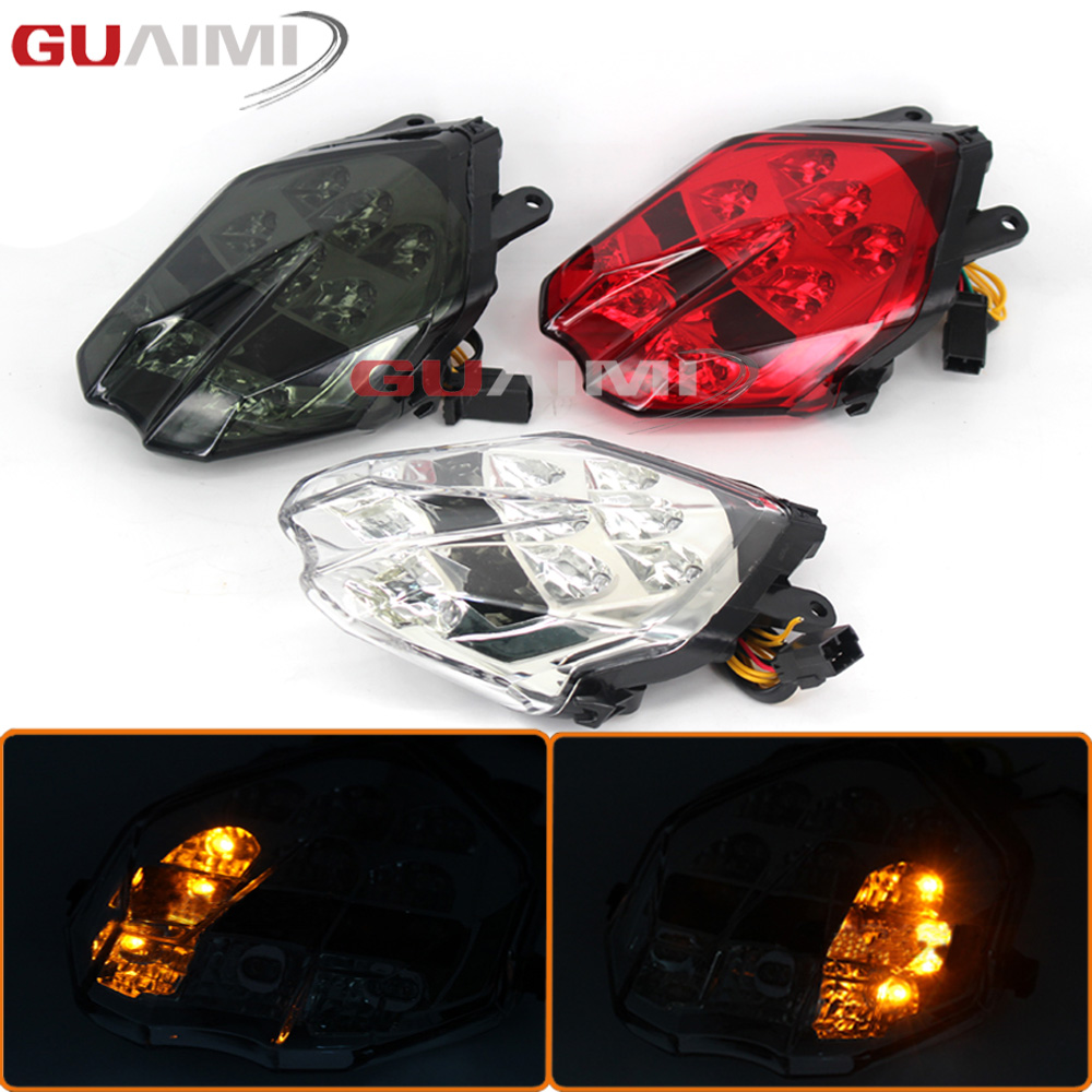 Motorcycle LED Bulb Tail Light Assembly Moto Brake Turn Signal Flasher Accessories For Triumph Speed Triple 675 675R Daytona 675