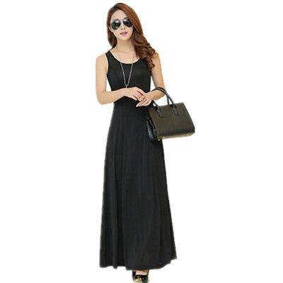 Летнее платье для женщин модное повседневное Макси платье размера плюс черные платья Бохо сарафан вечерние элегантные женские платья - Цвет: black vest