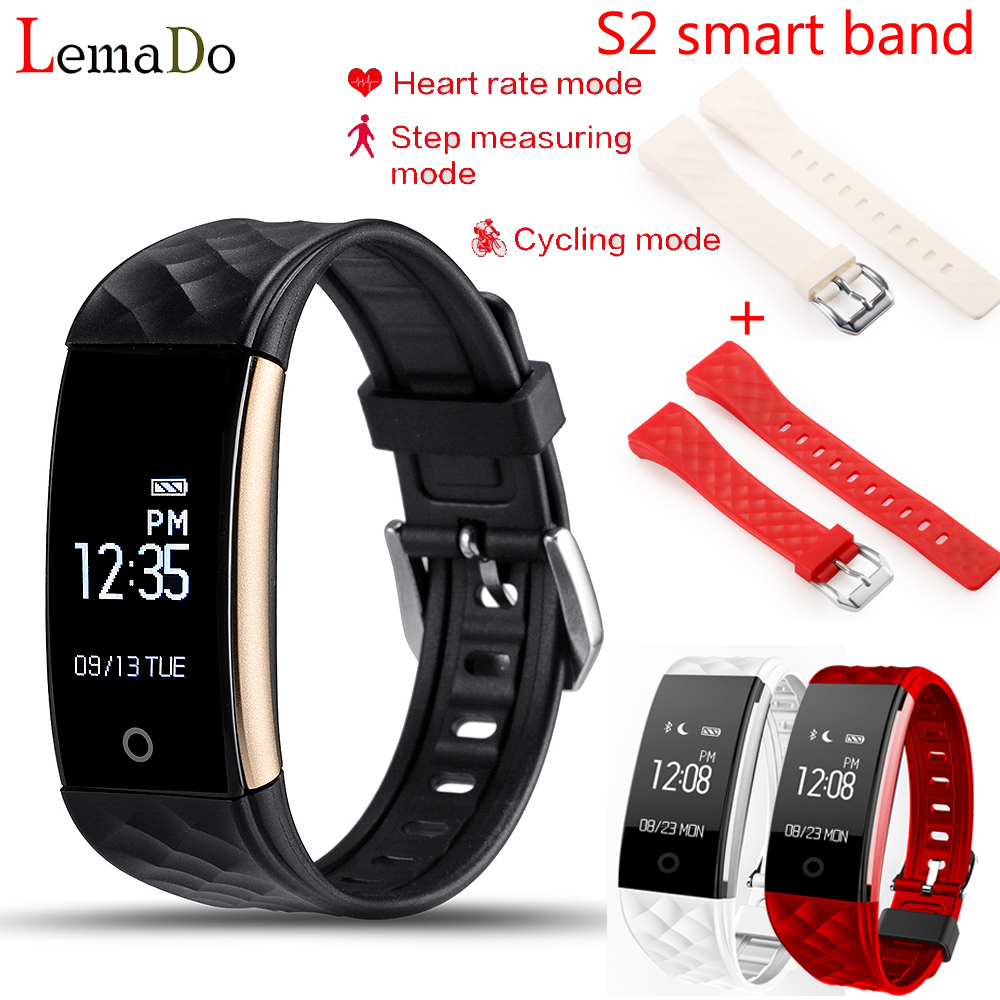Lemado S2 Bluetooth Smart Band Wristband Heart Rate Monitor IP67 Waterproof Smartband Bracelet For Android IOS