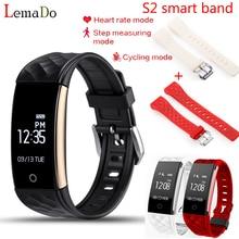 Lemado S2 Bluetooth Smart Band Браслет Heart Rate Мониторы IP67 Водонепроницаемый SmartBand браслет для Android IOS Телефон с ремешками