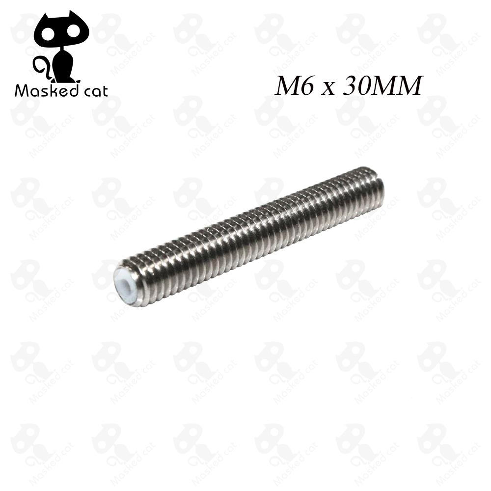 3D Printer Accessories Stainless Steel M6 x 30mmThroat for Makerbot MK8 1.75mm Fimament With Teflon Tube impresora 3d parts 10pcs lot high quality 3d printer spare parts m6 26 3d printer e3dv5 nozzle throat with teflon tube