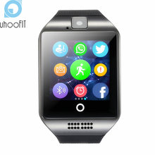 Bluetooth Smart Watch Men Women Sports Q18 Facebook Whatsapp Sync SMS Smartwatch Support SIM TF Card for xiaomi huawei phone A1(China)