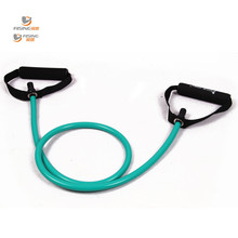 resistance exercise band tubes stretch yoga fitness equipment workout pilates green for wholesale and free shipping rising sport