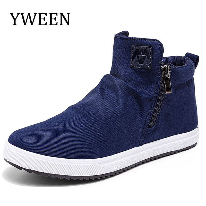 YWEEN Man Canvas Shoes Autumn New Arrival High Style Breathable Casual Shoes For Men Trend Fashion