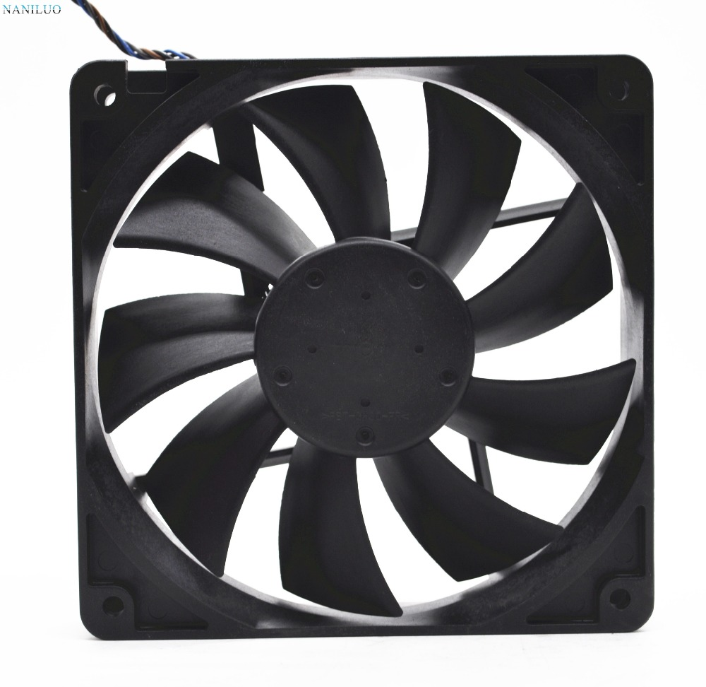 NANILUO 4710KL-04W-B56 <font><b>12cm</b></font> 12025 120mm 0.72A 4-wire <font><b>PWM</b></font> industrial case axial cooling <font><b>fans</b></font> thermostat 12025 image
