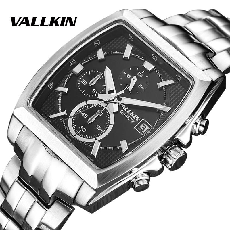 Top Brand Luxury Man Sport Luminous Wristwatch Chronograph stainless steel Quartz Watch Relogio Masculino Complete Calendar luxury brand sport watch men cool chenxi fashion luminous relogio masculino calendar multifunction chronograph quartz wristwatch