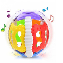 Colorful Bell Ball Toy Baby Toys 0-12 months Bite Soft Glue Hand Catch Rattle Babies Educational Toys For Childern Funny Safety