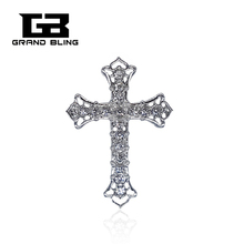 Christian Jesus Brooches Crystal Rhinestone Cross Brooch Pin