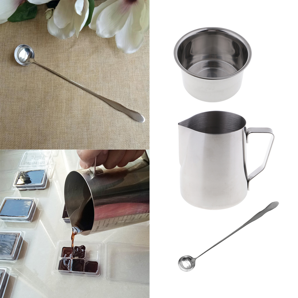 Heat-Resisting Handle Designed Wax Melting Pot Candle Making Molds Baoblaze DIY Candle Making Pouring Pot