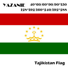 YAZANIE 120*180cm/160*240cm/192*288cm All Size Tajikistan Flag Large Outdoor Sports Cotton Hanging Banner Logo Custom 3x5 Flag(China)