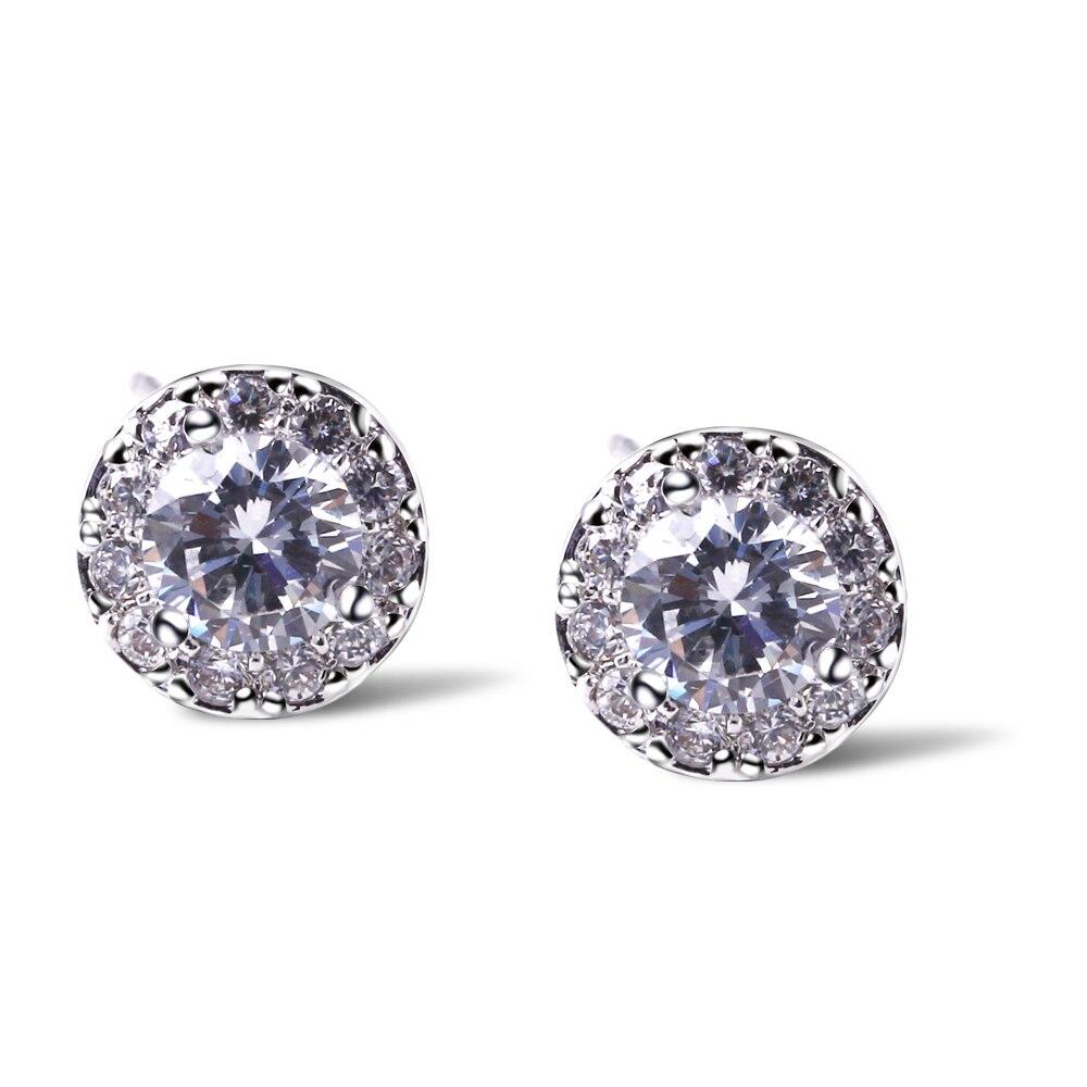 Love Deluxe Earringstop Selling Luxury Classic Earrings Synthetic Zirconia  Round Shape Minimal Bridal Earring Free Shipping