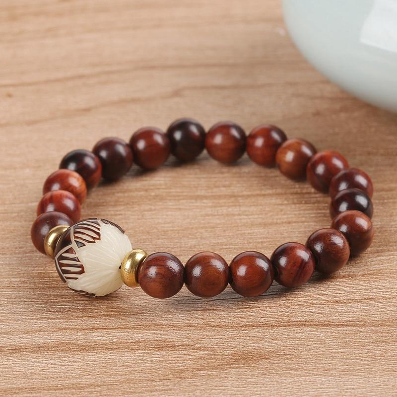 Handmade Wood Buddha Beads Prayer Bracelets Bodhi Seeds