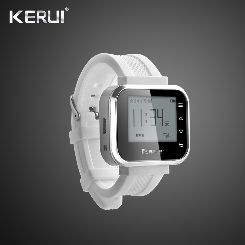 KERUI KR-C166 Fashionable White Black Wireless Waiter Pager Calling System Watch Hospital Bank Hotel Restaurant Calling System