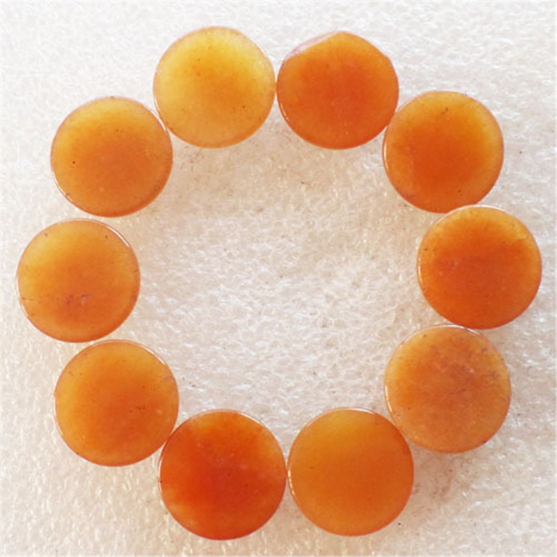(12 pieces/lot) Wholesale Natural Yellow Aventurine Round CAB Cabochon 16x5mm Free Shipping Fashion Jewelry J169