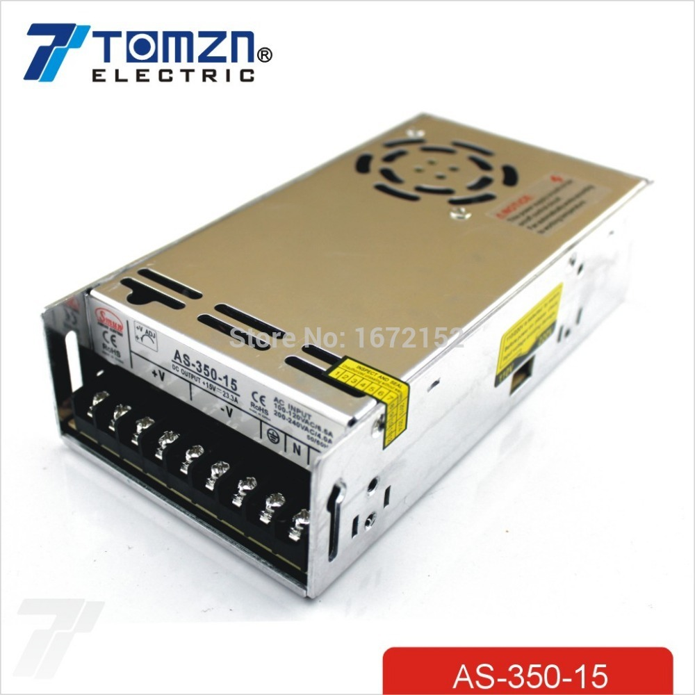 350W 15V 23.4A Small Volume Single Output Switching power supply for LED Strip light AC TO DC