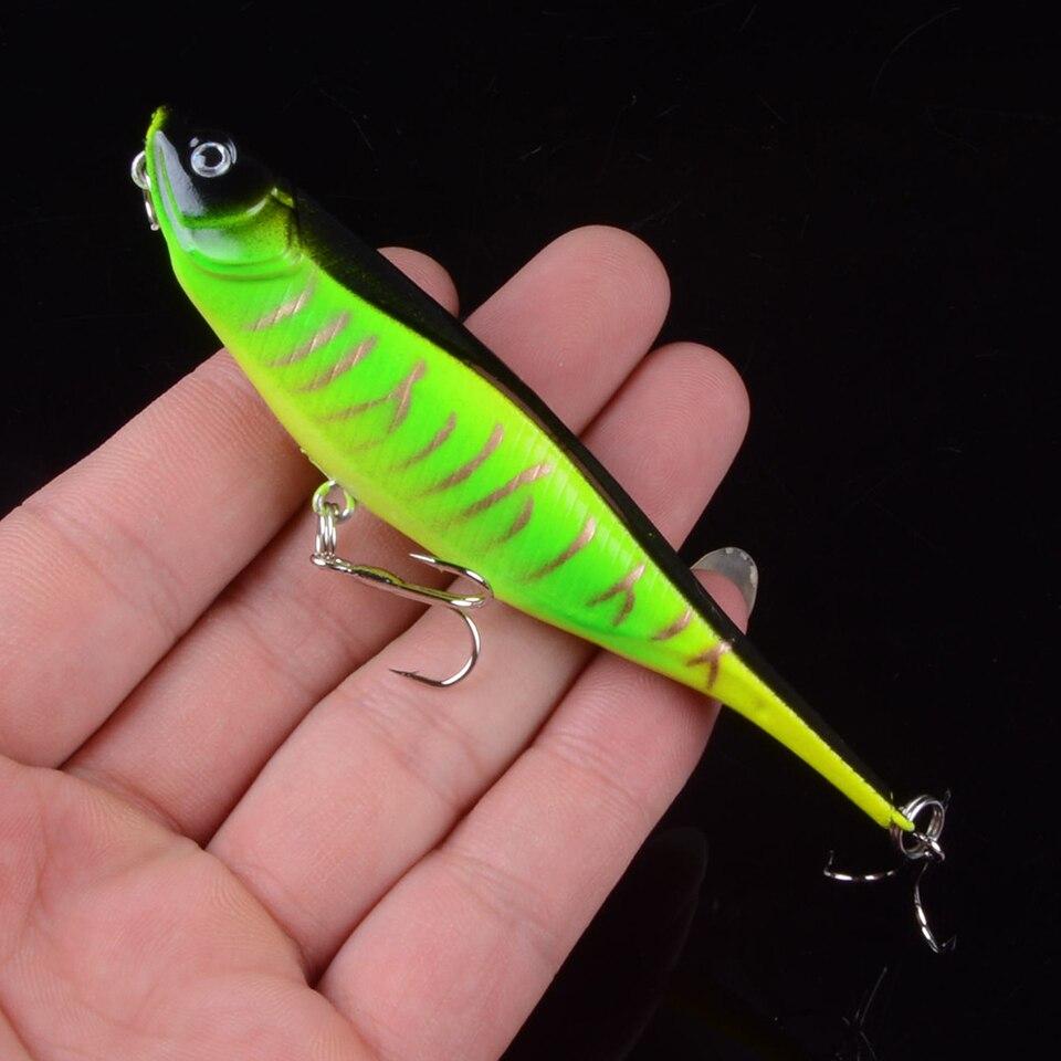1Pcs 10cm 10g Pencil VIB Fishing Lures 3D Eyes Bait Crankbait Wobblers Isca Poper Pesca Fishing Tackle Artificial Bait