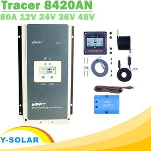 EPever MPPT 80A 12 В 24 в 36 в 48 в контроллер заряда солнечной батареи Подсветка ЖК-дисплей макс. 200 в PV вход общий отрицательный заземление 8420AN