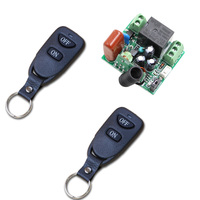 Mini 220V 10A Relay 1CH 315 MHz 433MHz RF Wireless Remote Switch 2 Pcs Transmitter 1