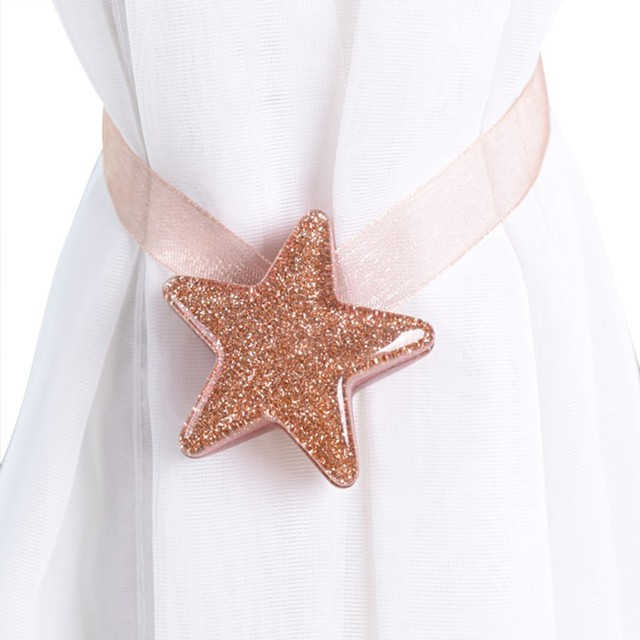 1pc Star Curtain Tiebacks Magnetic Tassels Magnet Curtains Buckle DIY Home Decoration