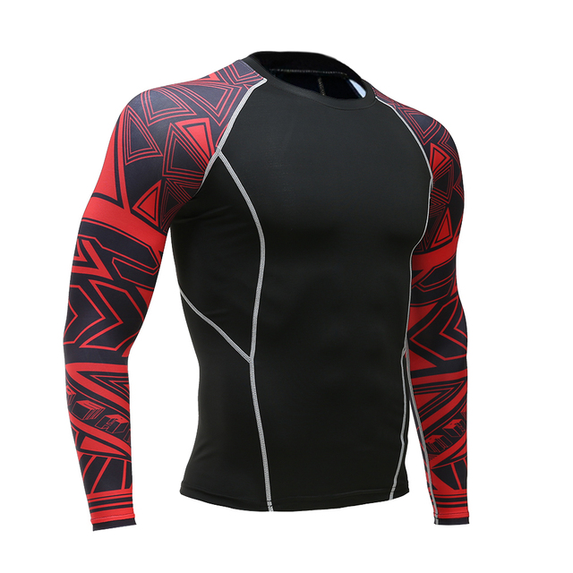 Long-sleeved T-shirt sports men's running T-shirt fitness sportswear sports men's compression sportswear Rashgard 3