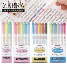 Japanischen Zebra 5 Teile/satz Mildliner Stift Mild Liner Doppel Headed Highlighter Stift Zeichnung Marker Stifte Scribble Kunst Schreibwaren