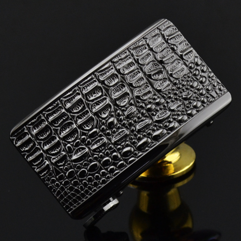 Men's Crocodile Belt Buckle Alloy Material Application Of Leather Belt Body Width 3.5CM High Quality Designers Youth CE1814-QQ