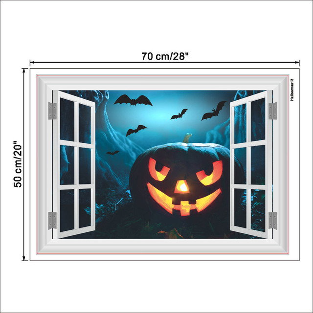 3d halloween background wall decoration removable halloween