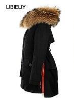 Winter Jacket Women Coats Thick New Nice Winter Coat Women Parkas Army Green Large Raccoon Fur Collar Hooded Coat Woman Outwear