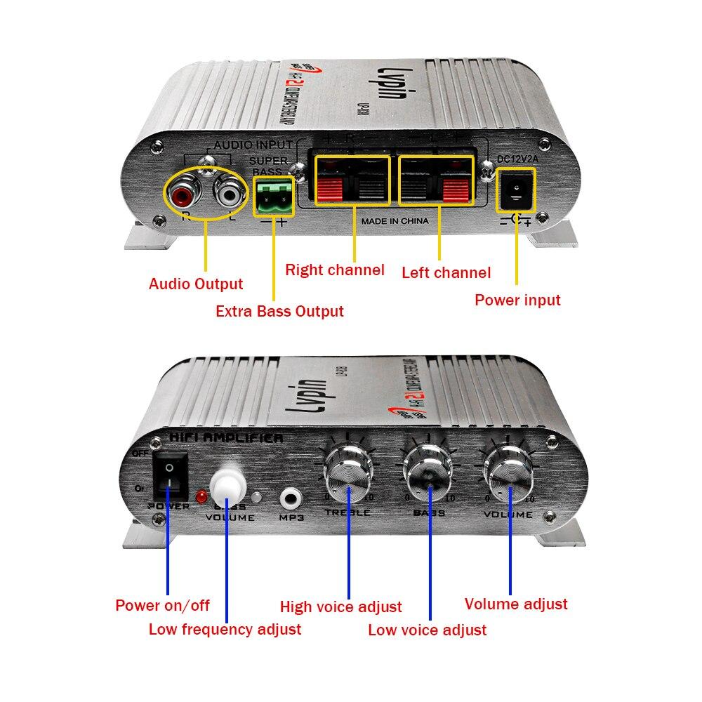 200 W Amplificateur De Voiture LP-838 12 V Smart Mini Salut-fi Stéréo Audio amplificateur Pour La Maison De Voiture Auto MP3 MP4 Stéréo AMP Bateau moto