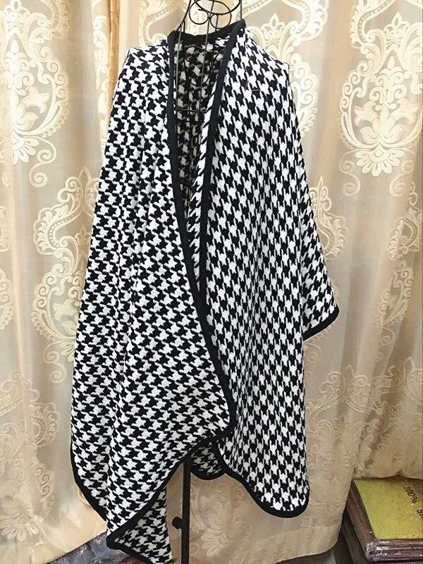 Обтекаемое одеяло, Кашемировое многоцелевое комбинированное пальто, женская шаль, звездное шоу, пальто большого размера, пончо, шарф, накидка JQ26