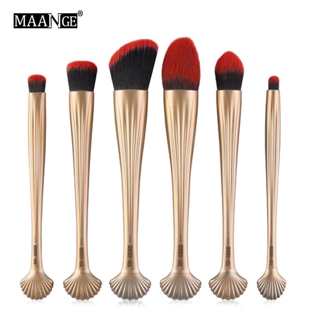 6PCS/SET Makeup Brushes Set Pro Cosmetic Powder Contour Foundation Blending Eye Shadow Lip Beauty Make Up Brush Tool Kit