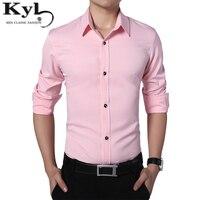 Spring White Mens Shirts 2017 Long Sleeve Big Size Men Shirt Luxury Brand Business Slim Fit