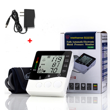Portable Digital Blood Pressure Monitor Fully Automatic Eletronic Sphygmomanometer Blood Pressure Meter with AC Adapter