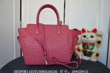 Genuine Ostrich Leather Skin  Women Tote Bag Famouse High End Quality Handbag
