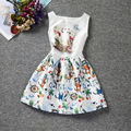 Leisure Children's Clothing Cat Pattern Girl Dress Code Printing Princess Dress Evening Gowns For Kids Clothes Wedding Dresses