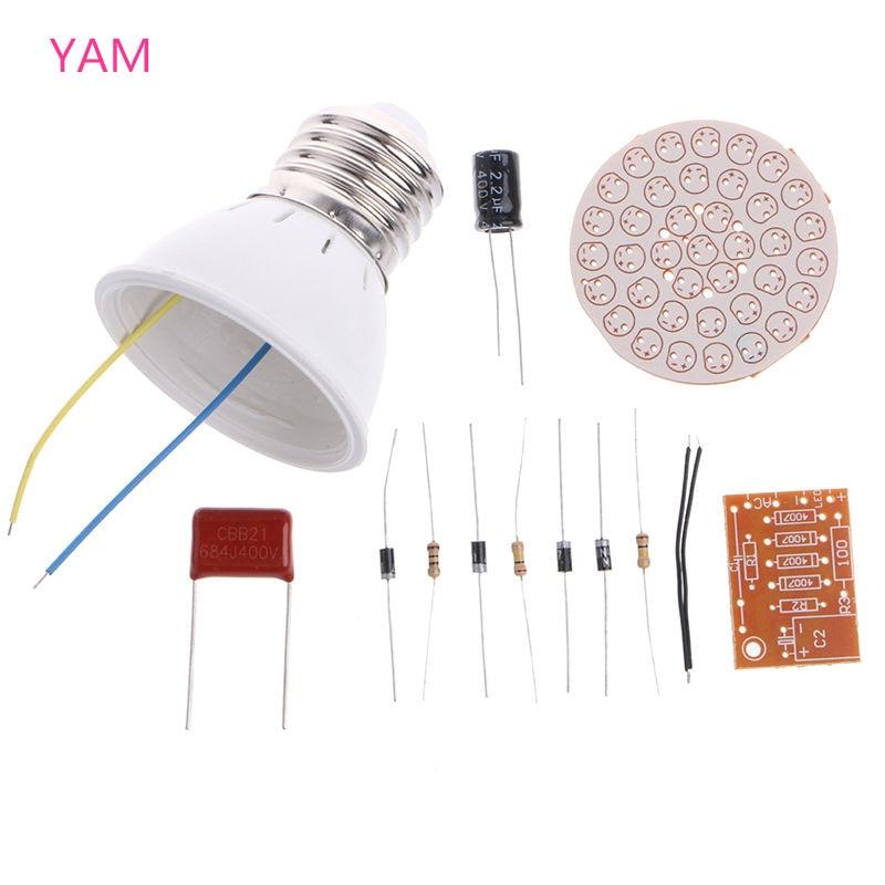 1 Set Energy-Saving Light 38 <font><b>LEDs</b></font> Lamps DIY Kits Electronic Suite #S018Y# High Quality