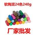 24 Colores Bloque de Arcilla del Polímero de Fimo Modelado Moulding kids niños DIY Juguetes de Regalo