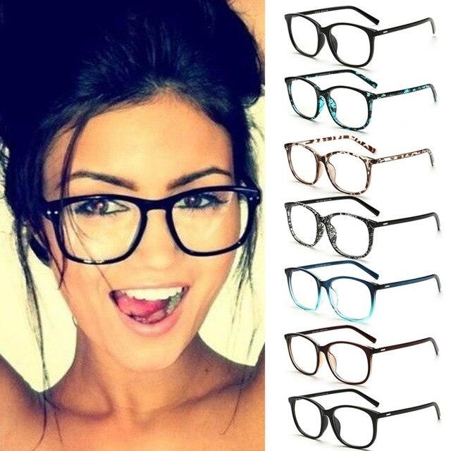 ad79923229425 Mulheres Marca de moda óculos de Sol Óculos de Armação Retro Lente Clara Do  Vintage Óculos