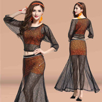 Belly Dance Skirt For Oriental Dance Costumes Belly Dancing Women Costume Comfortable Set Leotard New Adult Clothing Lace Skirt