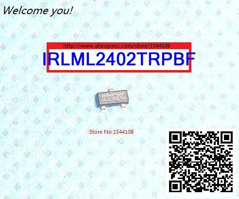 FREIES VERSCHIFFEN IRLML2402TRPBF MOSFET N-CH 20 V 1.2A SOT-23 2402 IRLML2402 50 STÜCKE