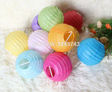 Party Supplies12pcs 4''(10cm) Chinese Mix Color Paper Lantern Wedding Decoration Birthday NO-String Ligth