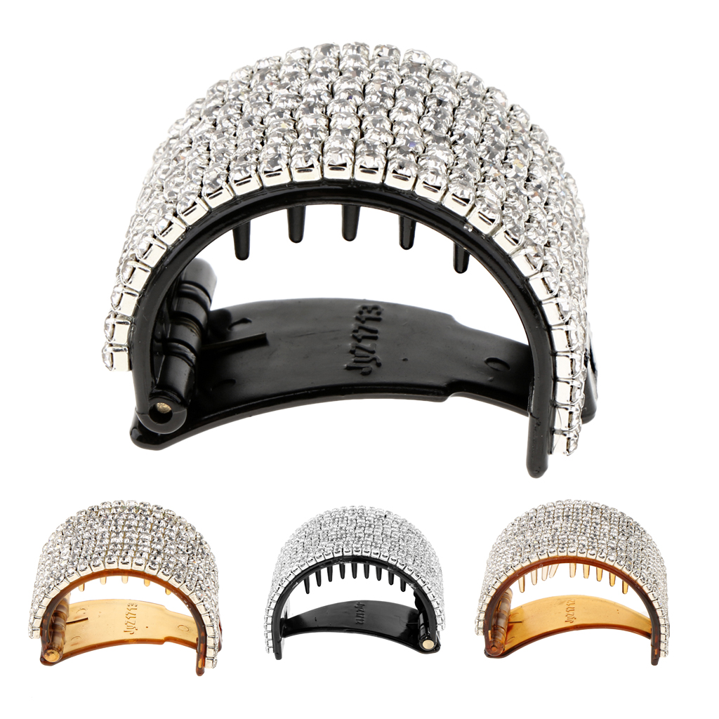 Women Glitter Rhinestone Hair Clip Cuff Wrap Barrette Hair Grip Clip Accessories in Women 39 s Hair Accessories from Apparel Accessories
