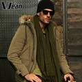 V JEAN  2015 Winter Mens Peach-Skin Big & Tall Hooded Puffer Parka Jacket