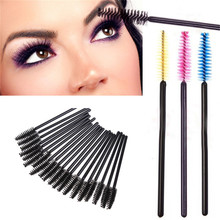 50PCS Disposable Eyelash Brush Mascara Wands Applicator Spoolers Makeup Mini 3003TMxgrj