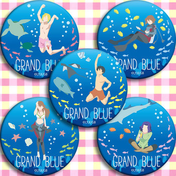 badge 58 mm Grand Blue Iori Kitahara Nanaka Kotegawa badge brooch bag deco acrylic bagdes image