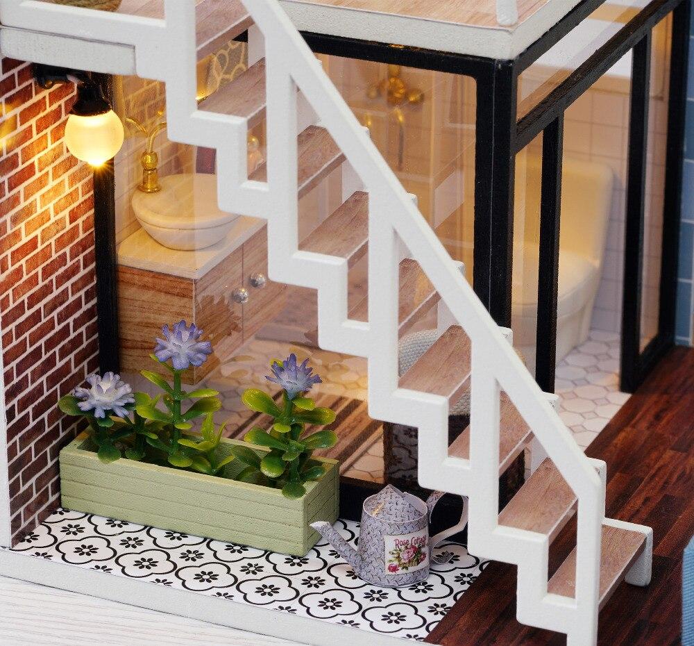 Casas de Boneca madeira diy casa de bonecas Tipo : Furniture Miniature