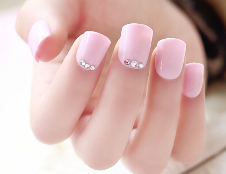 24pcs Set Fake Nails With Glue Nail Tips French Bride Full Pearl Hight Quality In False From Beauty Health On Aliexpress