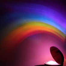 New LED Rainbow Projector Room Night Light Colorful Lamp Magic Romantic Gift Kid novelty  psychedelic star sky projection lamp