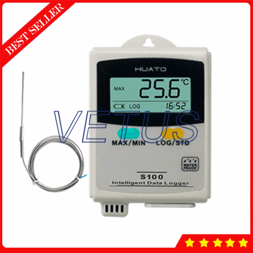 -100~100C USB Data Logger S100-EPT Temperature Datalogger with External Sensor 4,3000 Points storage function elifeking 100