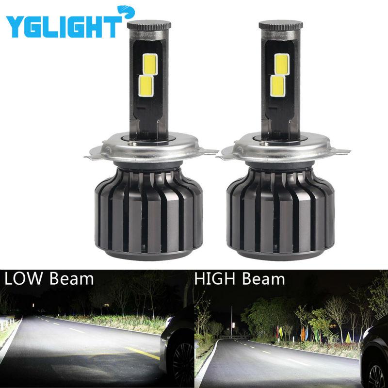 2pcs H4 Led Hi Lo Light 9003 HB2 Car Headlight COB Led 90W 9000LM 6000K Car